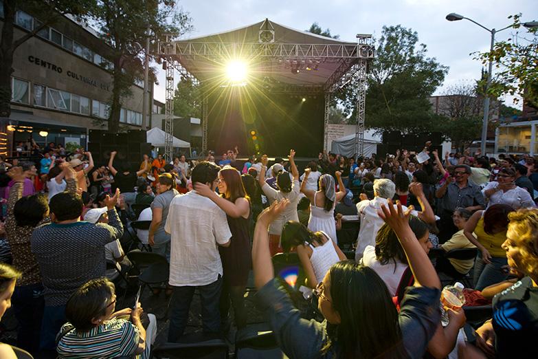 Escenario alterno durante la celebración del DID 2012. Archivo del Centro Cultural del Bosque -Fotografía: Pim Schalkwijk